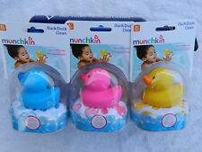 Munchkin Duck Duck Clean Sponge Bath Toy - Choice of Blue, Pink, or Yellow - NIP