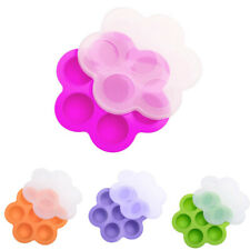 Silicone Egg Bites Mold for Pot Accessories Baby Pot with Lid 7 Holes Reusable