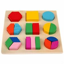 Learning Education Montessori Materials Wooden Geometry Math Toy Puzzle Toys for