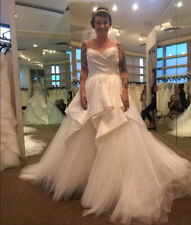 Sweetheart Ruched Satin Tulle Wedding Dresses Country Garden Wedding Bridal Gown