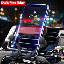Auto Grip Car Air Vent Gravity Mount Cellphone Holder Stand For iPhone X Samsung