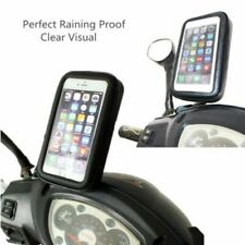 Bendable Arm Motorcycle Motorbike Rear Mirror Waterproof Phone Mount Holder Case
