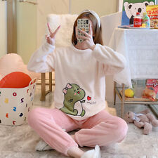 Thick Warm Flannel Pajamas Sets Winter Women Sleepwear Home Clothing Nightgown