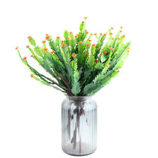 Artificial Plants Fake Shrubs Plastic Bushes Greenery Cactus with Flower Latest