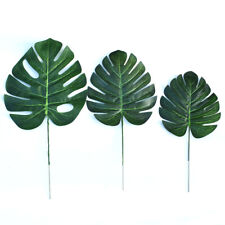 10Pcs Artificial Palm Leaves Tropical Hawaiian Palm Leaves for Table Home Decor