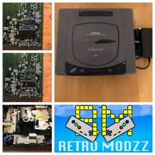 Sega Saturn Grey White V-Saturn 60Hz Multi Region BIOS F-Ram PAL NTSC PicoPsu