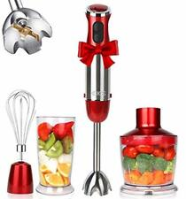 Hand Immersion Blender Includes 304 Stainless Steel Stick Electric Held Mixer