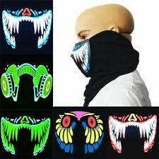 Face Masks Led Sound Reactive Glowing Voice-activated Masks Party Dance Mask New