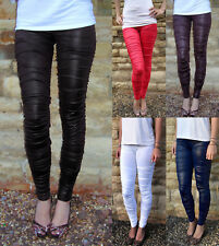 New Rats style Ruched Wet Look Leggings  Black ALLSIZES