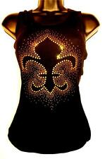 Studded New Orleans Saints Womens Ribbed Tank Top SM-3X