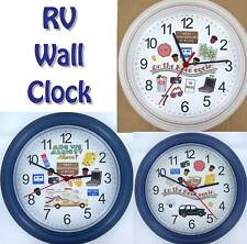 RV WALL CLOCK Camper Camping Travel Road Trip SAM Off-road SUV NEW