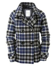 AEROPOSTALE wool Plaid Pea-Coat Jacket  XS,S,M,L,X,XXL