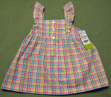 New PLEASE MUM Gingham Jumper w/ Ruffle Straps w/ Panty Dress