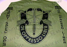 Special Forces Crest Long Sleeve T shirt S-3X SOCOM ODG JSOC SPEC OPS AIRBORNE