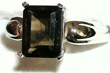 Women's Smoky & White Topaz Sterling Ring  9A9