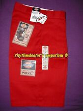 "Dickies Mens 42283 ER 13"" Loose Fit Cell Multi Use Pocket Work Short English Red"