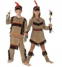 NATIVE RED INDIAN BOY AND GIRL FANCY DRESS COSTUMES