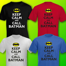 Funny 'KEEP CALM & CARRY ON [CALL BATMAN]' MENS T-SHIRT Sizes to 4XL