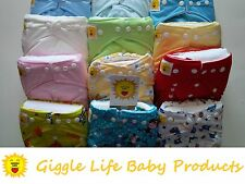 Giggle Life 24 One Size Fits Cloth Diapers & 48 Inserts