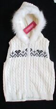 NWT GYMBOREE ALPINE SWEETIE SWEATER FURRY HOODED VEST