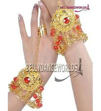 BELLY DANCE COSTUME FASHION JEWELRY BRACELET TRIBAL ACCESSORY GOLD COLOR 1 PIECE