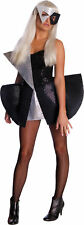 LADY GAGA Sexy Adult Costume Black Sequin Dress w/ WIG