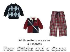 """NWT"" Gymboree Baby Boy's Rock n Roll Rugby Top Sweater OR Pants Size: 3-6 M"