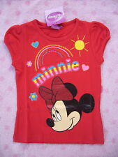 Disney Minnie Mouse T- Shirt Gr. 98 104 110 116 128 Neu