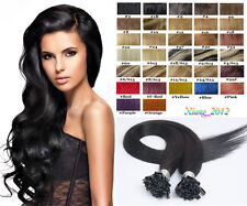 "18""-32"" Nail Tip/Keratin Remy Human Hair EXTENSION Any Color,1g/per stand,100S"