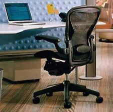 Leather Armrest Herman Miller Aeron home office desk chair Lumbar Support Size B