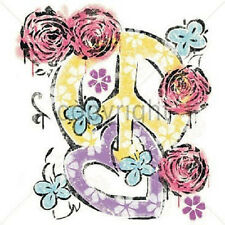 Rose Heart Peace Sign T-Shirt All Sizes & Colors New