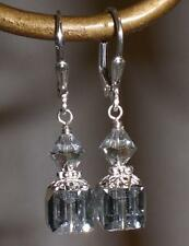 Comet Argent Light Sterling Silver Crystal Earrings Made with Swarovski Elements