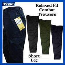 Mens Short Leg Combat Workwear Work Cargo Army Trousers Pants Combat Clothing