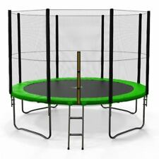 6FT 8FT 10FT 12FT 14FT Trampoline With Safety Net Enclosure Ladder Rain Cover