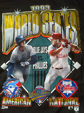 1993 PHILLIES/BLUE JAYS WORLD SERIES SALEM TSHIRT LENNY DYKSTRA VS JOHN OLERUD