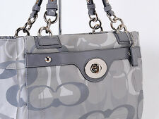 NWT COACH 17140 PENELOPE OPTIC SIGNATURE CARRYALL TOTE  Two Colors: Berry,Grey