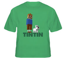 Minecraft Tintin Video Game 3d Cube Game T Shirt