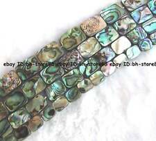 8x10mm 10x14mm 12x16mm 13x18mm natural abalone Shell flat oblong Beads 15''