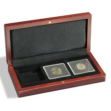 Mahogany Wood Grain Box for 3 Quadrum Coin Capsule Holders from Lighthouse