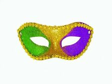 NEW Mardi Gras Glitter Ball Jester Mask Costume Party Deluxe Halloween all Color