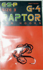 ESP RAPTOR G4 HOOKS - BARBED - CARP - FISHING