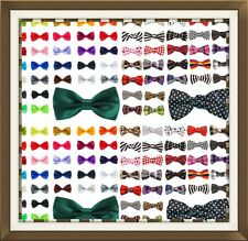 NEW Satin Bow Tie Dickie Bow Pre-Tied - Lots Of Colours For Weddings ETC UK