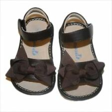 Girls ADD-A-BOW Brown  Squeaky Shoes Sandals toddler sizes 4-8 SANDALS