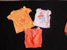 NWT GYMBOREE TROPICAL BLOOM YELLOW FLORAL ORANGE LITTLE GIRL BIG DREAMS TOPS
