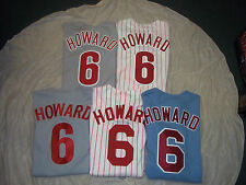 RYAN HOWARD #6 PHILADELPHIA PHILLIES MAJESTIC MLB JERSEY FREE SHIPPING!