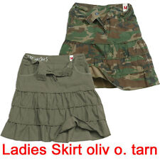 SURPLUS LADIES SKIRT oliv oder woodland S-L Damen Rock grün camo washed military