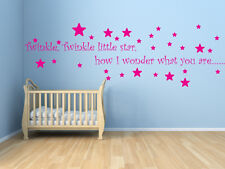 TWINKLE TWINKLE Nursery Rhyme Vinyl Wall Art - Various Colours & Sizes