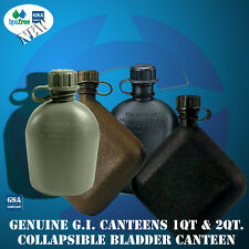Canteen OD Black 1qt or 2 Quart 3 piece Military Canteens New Made in US Genuine