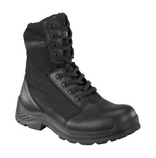 "KNAPP K8865 8"" BLACK TACTICAL BOOT, SOFT TOE, SIDE ZIPPER BOOTS"