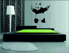 Panda With Guns Vinyl Wall Sticker art decals large pics graphics banksy pistol